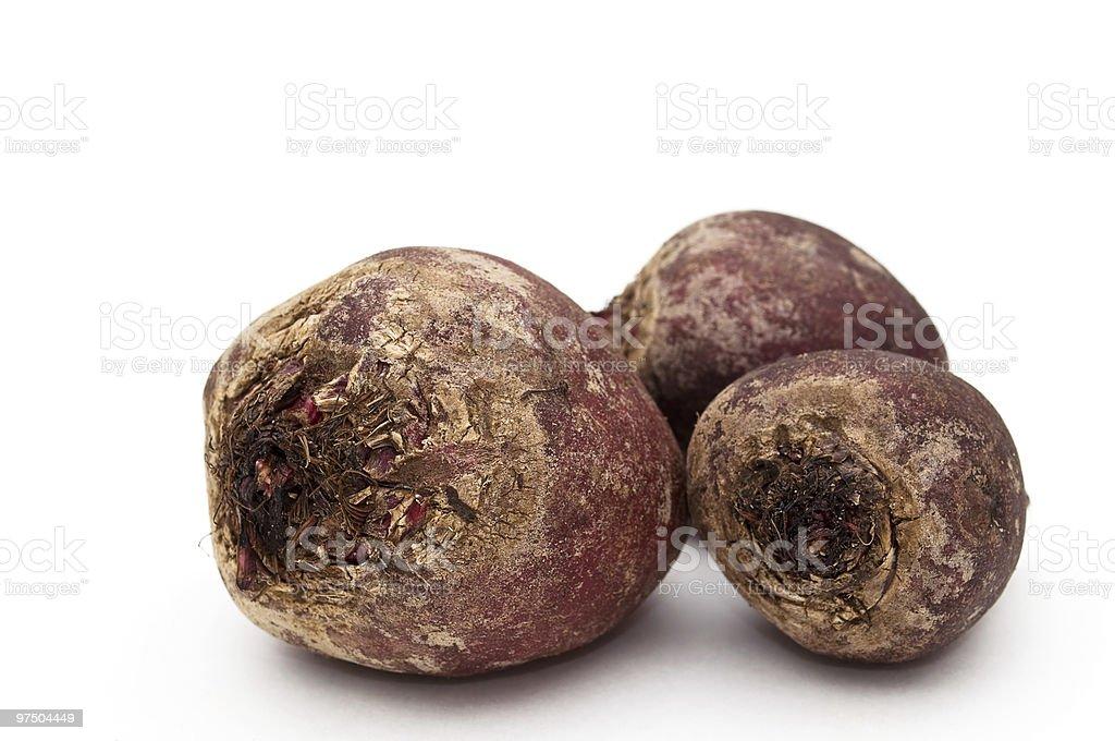 Three beets. royalty-free stock photo