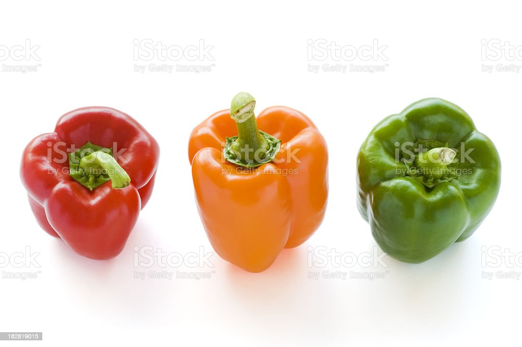 Three bell peppers royalty-free stock photo