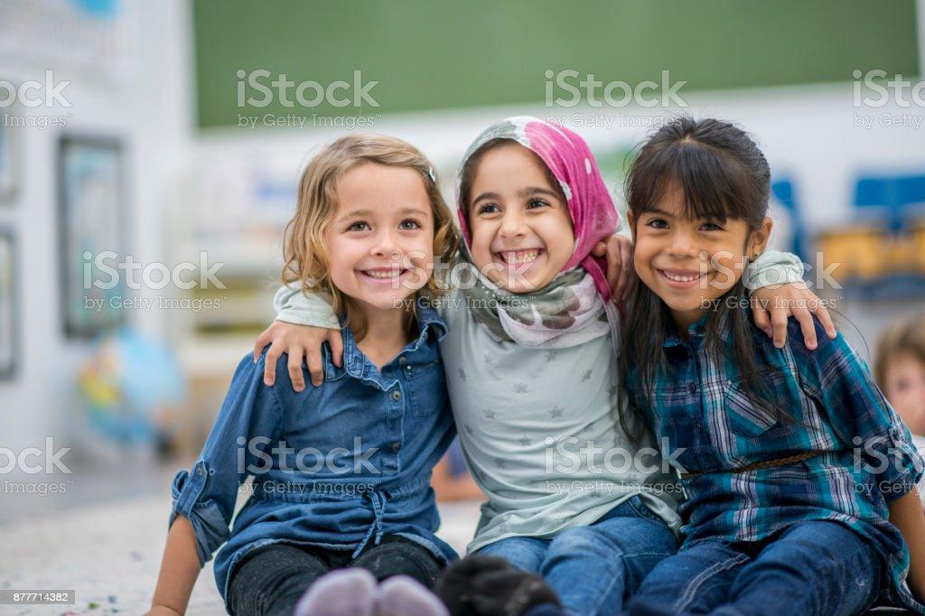 Três melhores amigos - foto de acervo