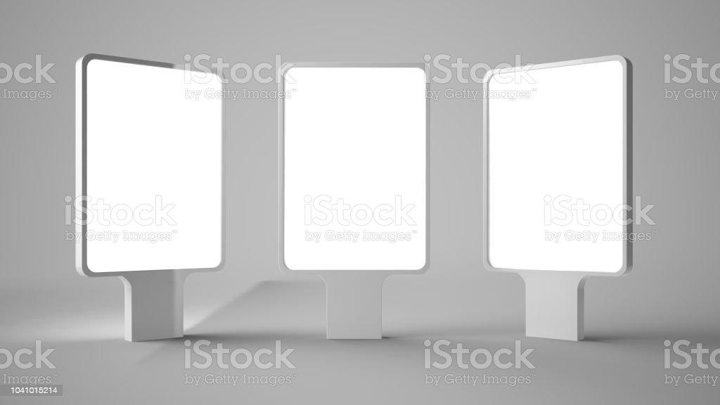 trois panneaux d'affichage - Photo