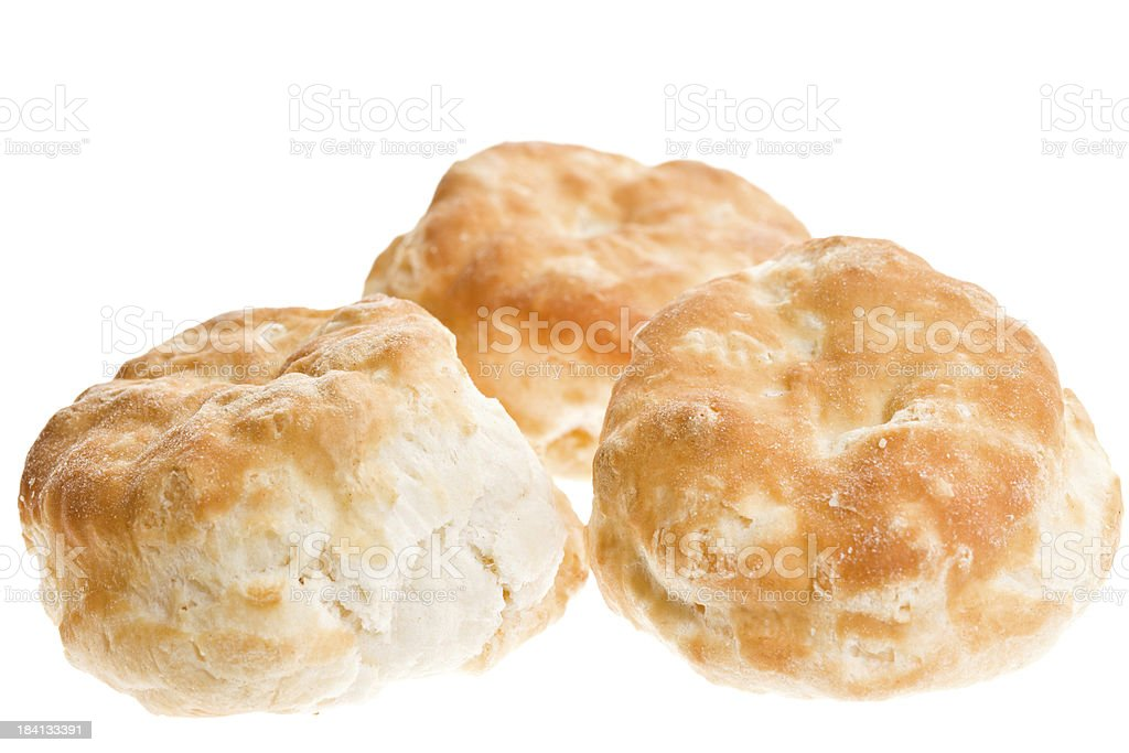 Three Biscuits royalty-free stock photo