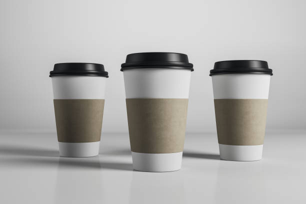 Drei leere Kaffeetassen – Foto