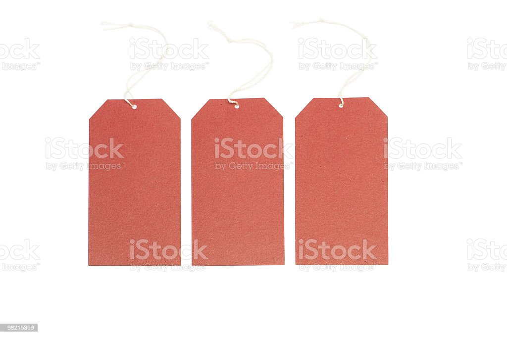 Three blank tags royalty-free stock photo