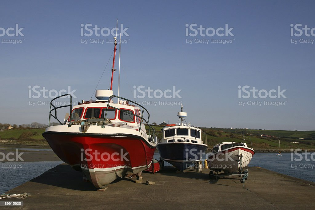 Three Boats stock photo