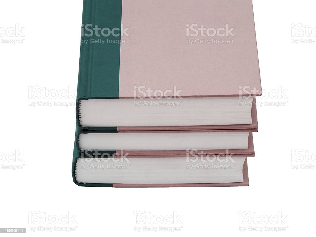 Three books royalty-free stock photo