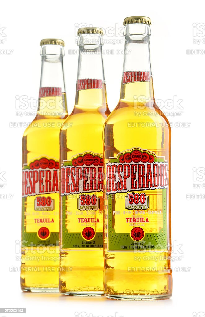 Three Bottles Of Desperados Beer Isolated On White Stock Photo Download Image Now Istock