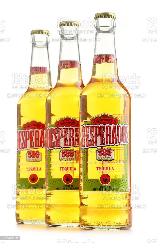 Three Bottles Of Desperados Beer Isolated On White Stockfoto Und Mehr Bilder Von Alkoholisches Getrank Istock
