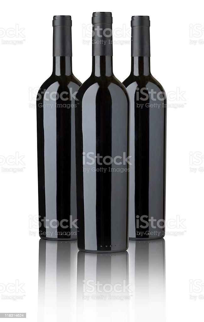 three bottles royalty-free stock photo