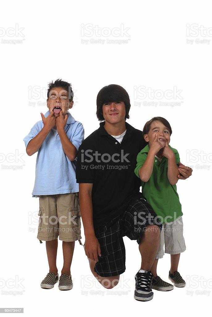 Three Boys royalty-free stock photo