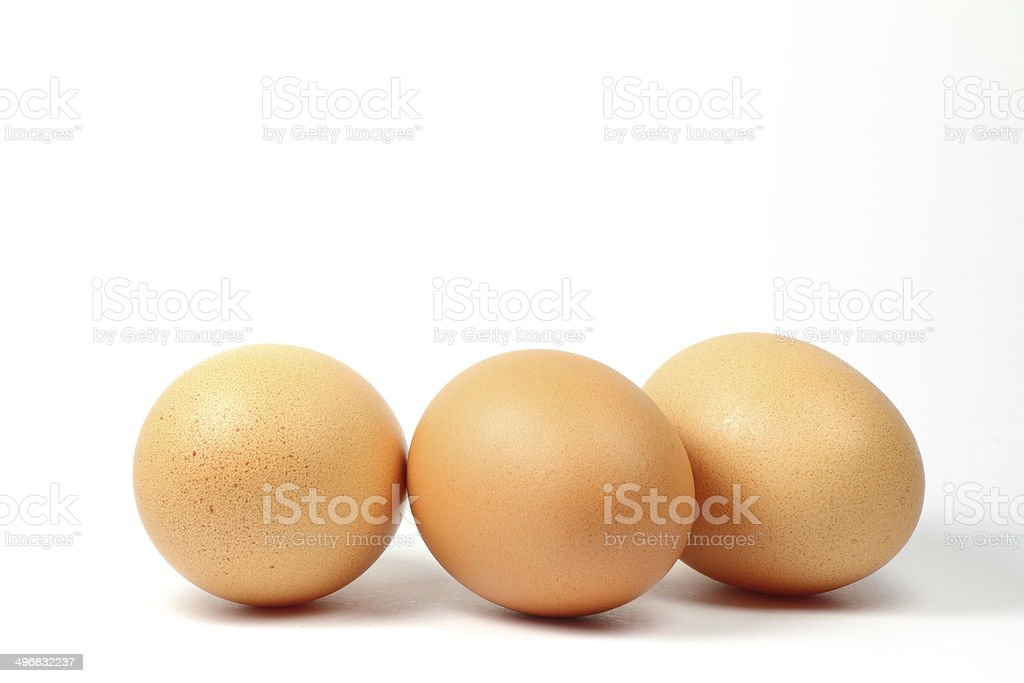 Three Brown eggs royalty-free stock photo