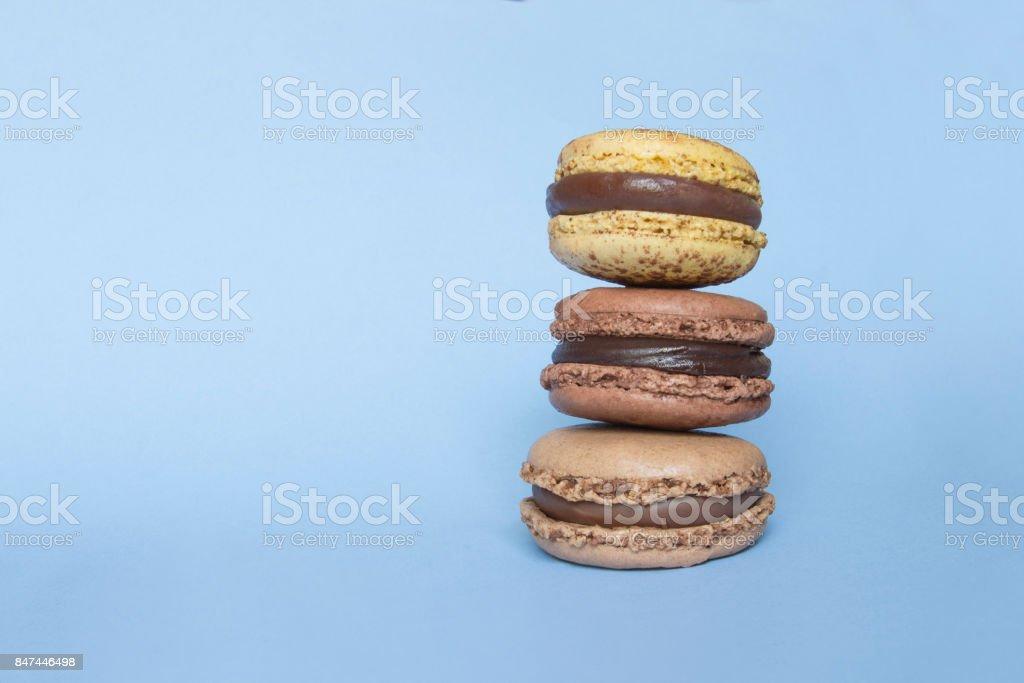 Trois macarons marron - Photo