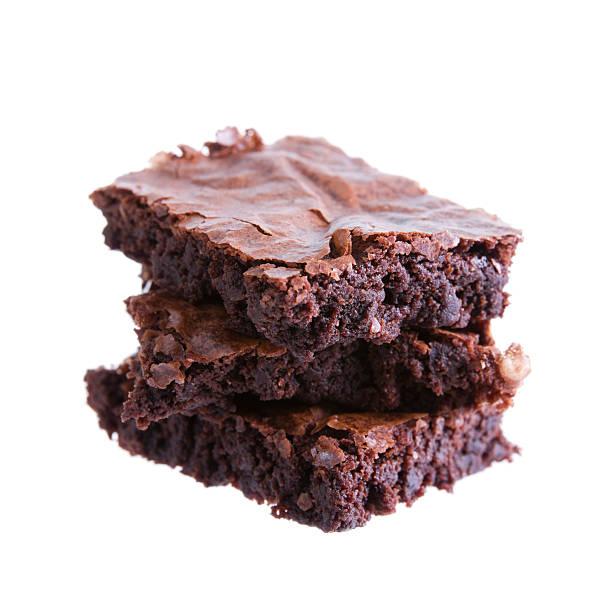Tre Brownie - foto stock