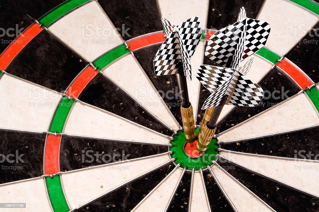 Three Bullseyes royalty-free stock photo
