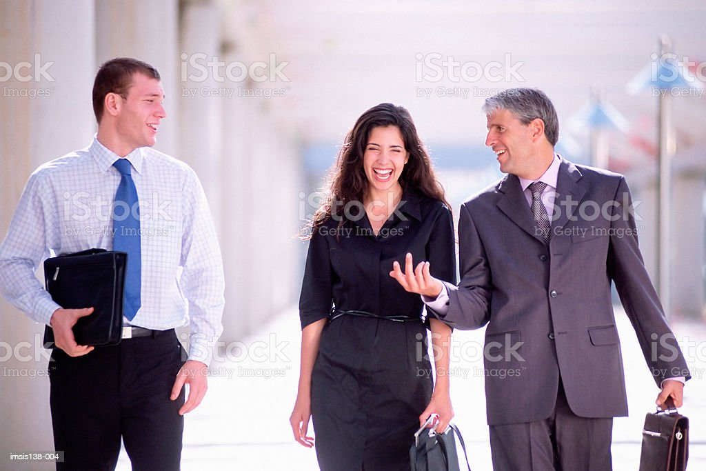 Three business colleagues royalty-free stock photo