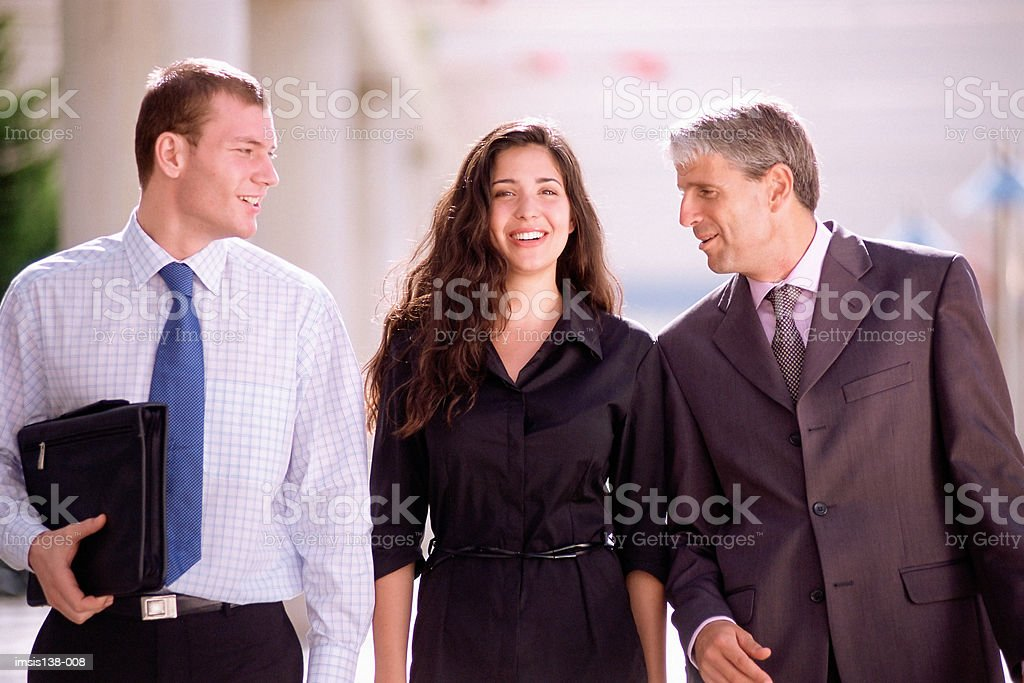 Three business colleagues foto royalty-free