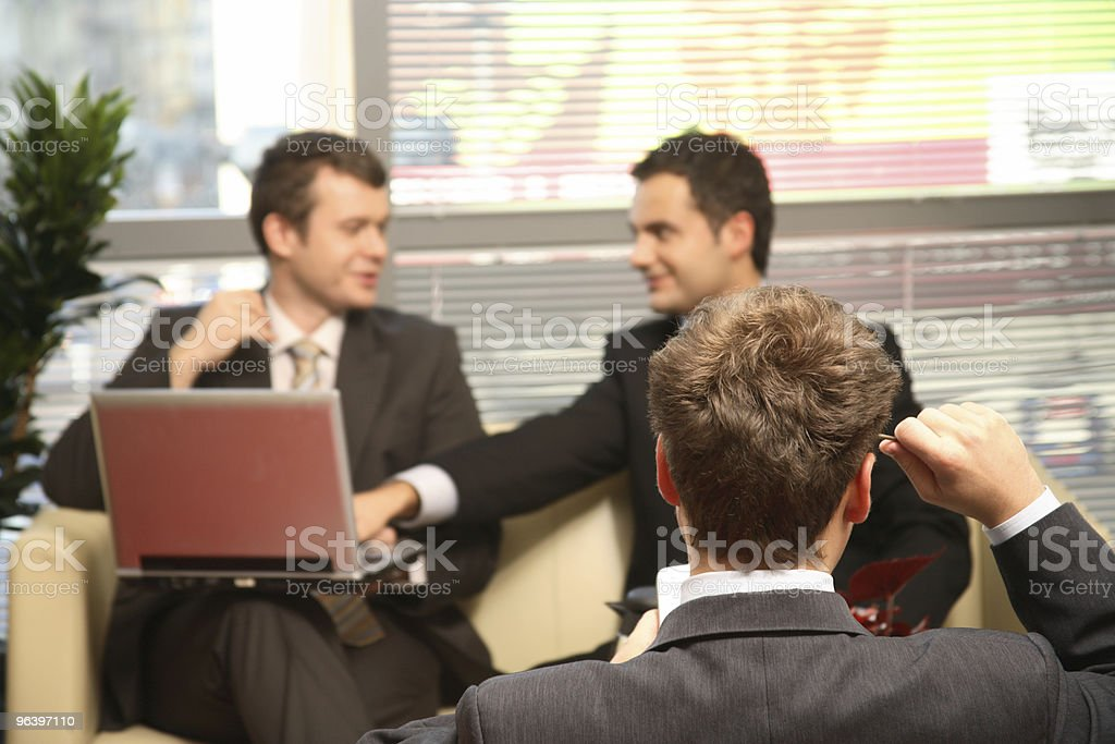 Three Business men working in the office - Royalty-free Adult Stock Photo