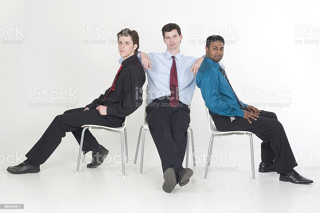 Three Businessmen royalty-free stock photo