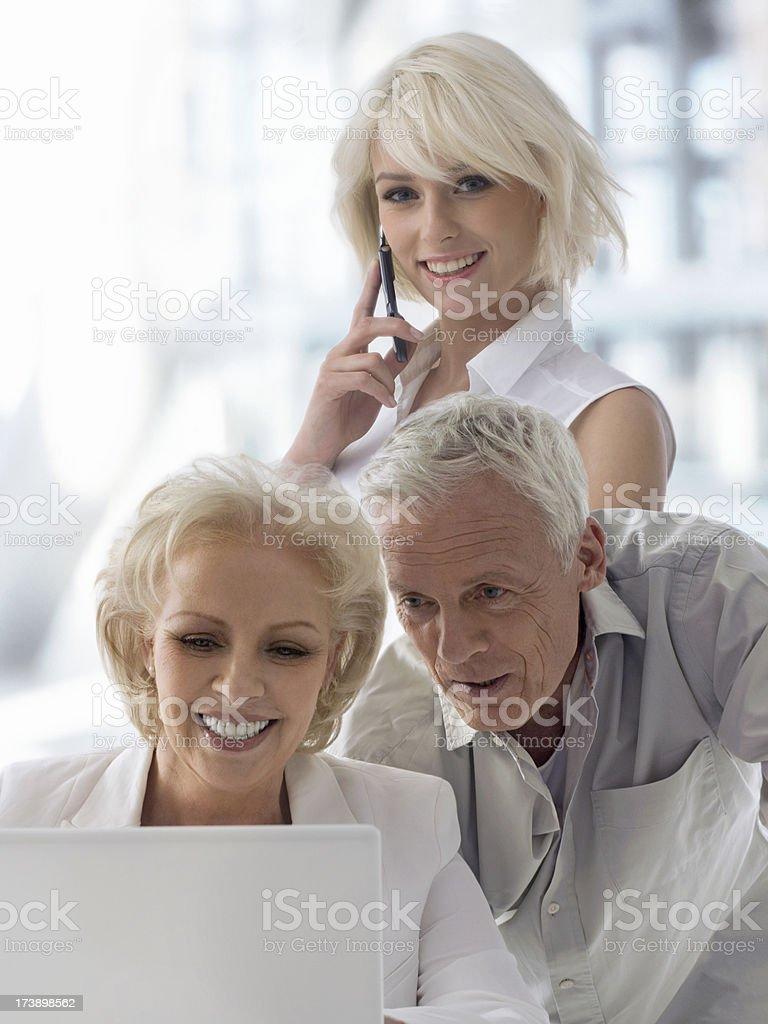 Three Businesspeople stock photo