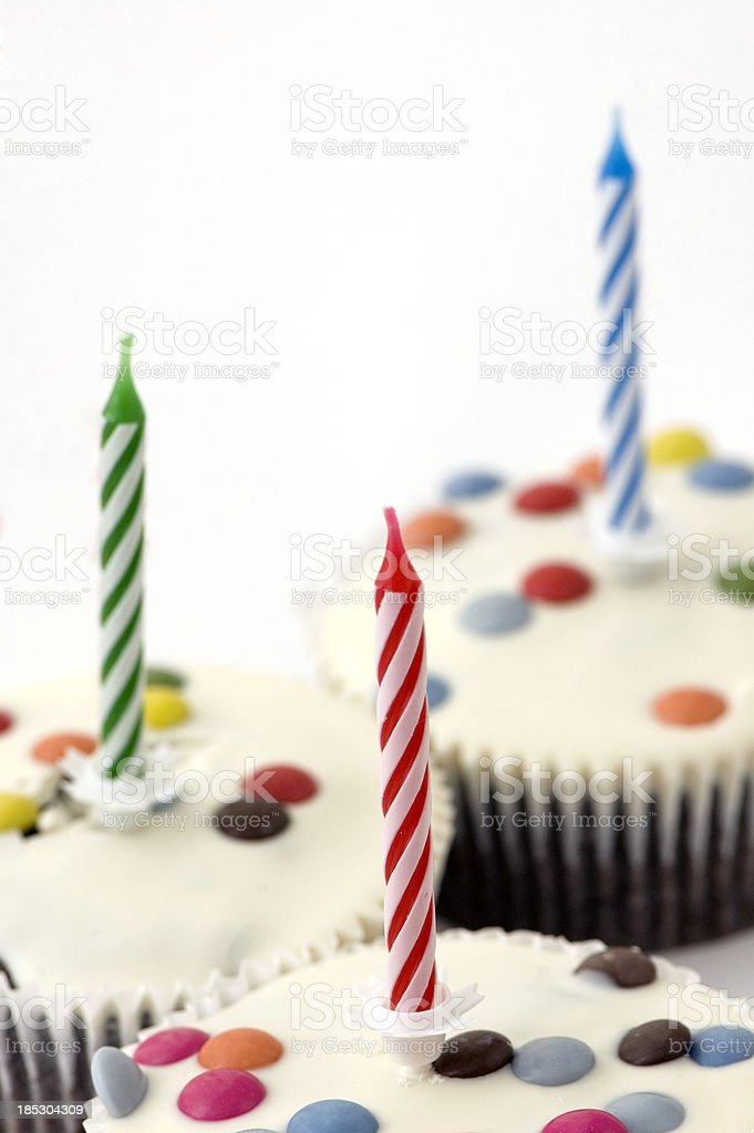 Three Candles For Third Birthday Party royalty-free stock photo