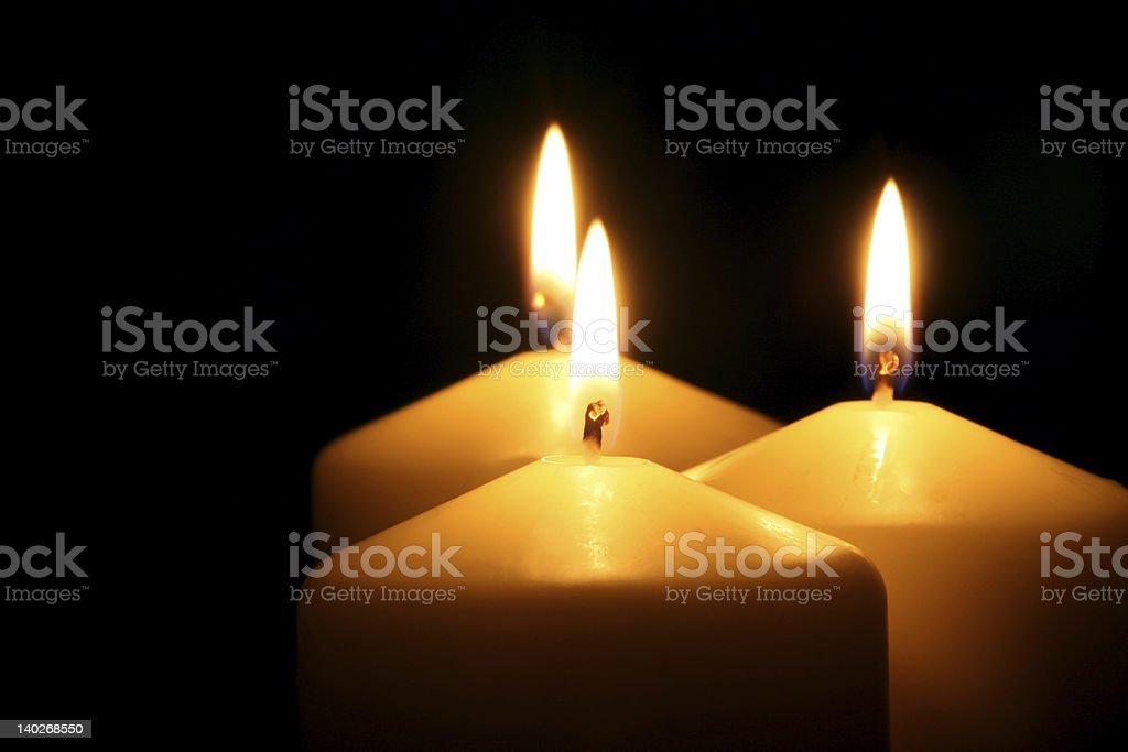 Three candles royalty-free stock photo