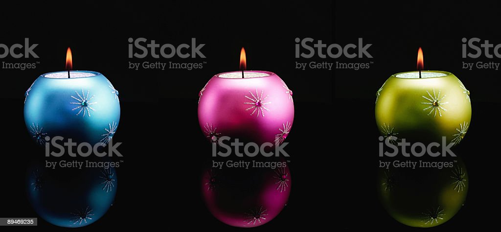 Three Candles royalty-free stock photo