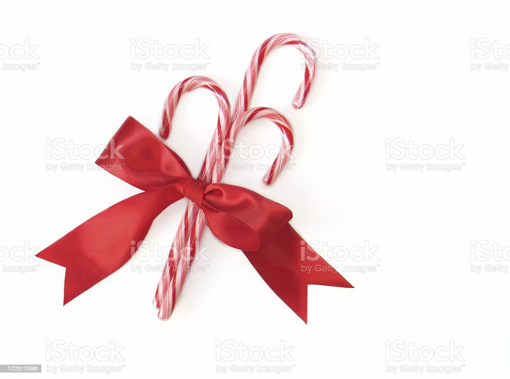 Three Candy Canes royalty-free stock photo