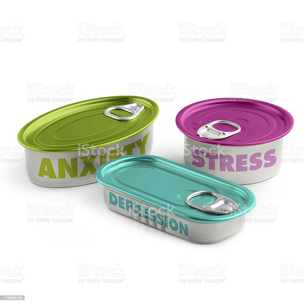 three cans of aluminum royalty-free stock photo