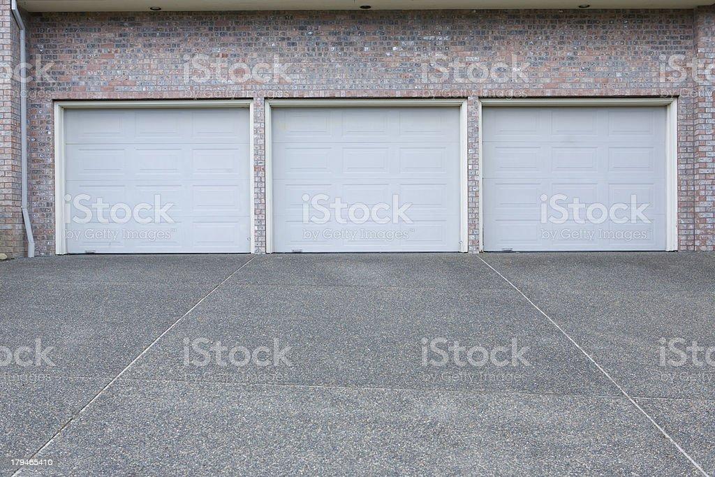 Three Car Garage royalty-free stock photo