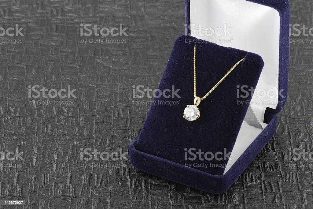 Three Carat Diamond Pendant stock photo