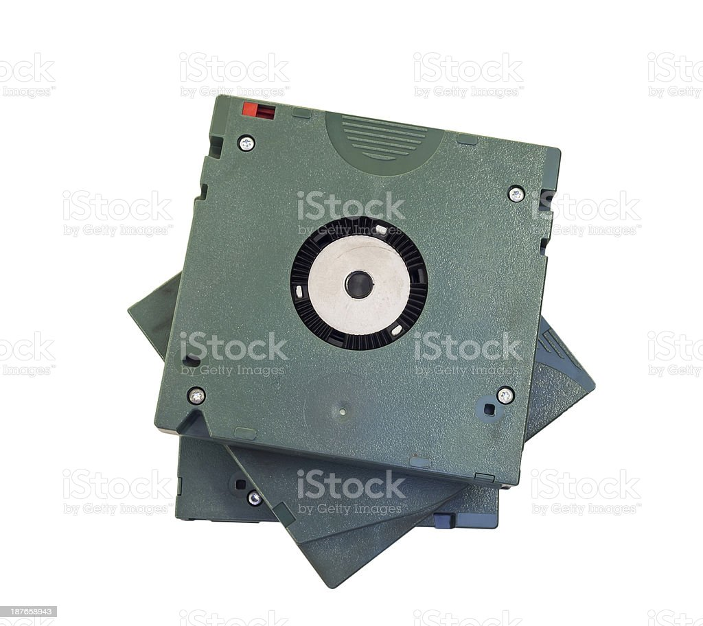 Three cartridge tapes stock photo