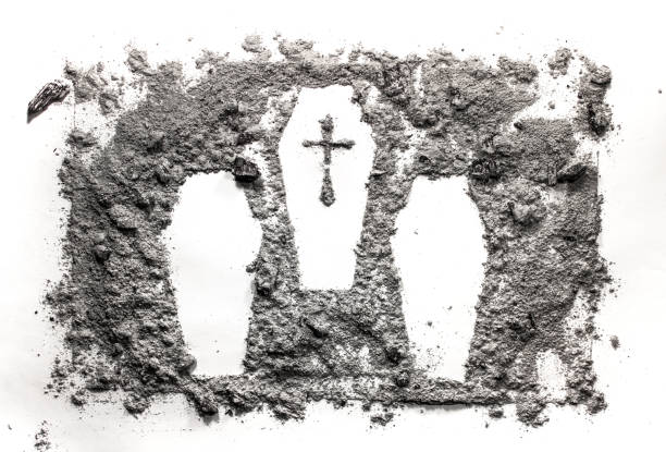 Three cascet or coffin drawing made in ash, dust, dirt Three cascet or coffin drawing made in ash, dust, dirt as mass murder, crime, war, victim, cemetery, graveyard, genocide, massacre concept genocide stock pictures, royalty-free photos & images