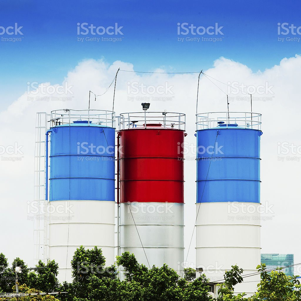 Three cement royalty-free stock photo