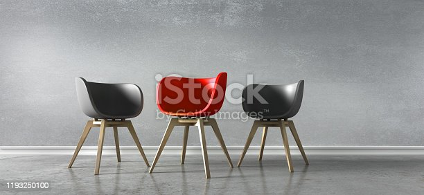 istock Three Chairs - Discussion 1193250100