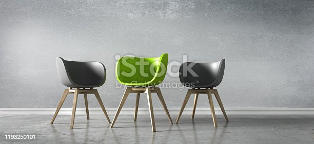 istock Three Chairs - Discussion 1193250101