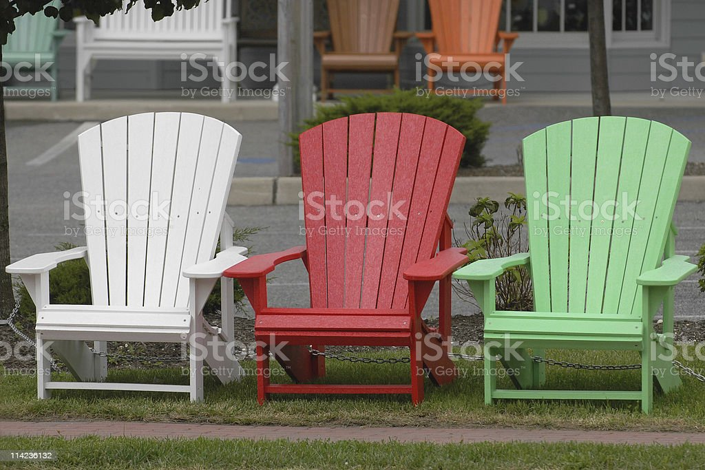 Three chairs royalty-free stock photo