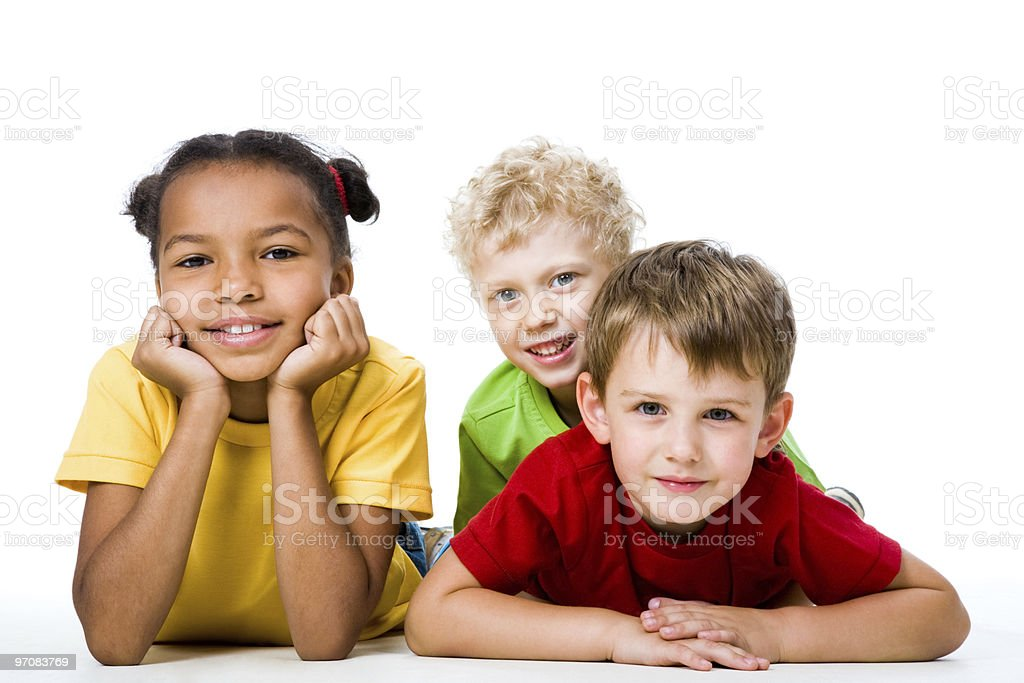 Three children royalty-free stock photo