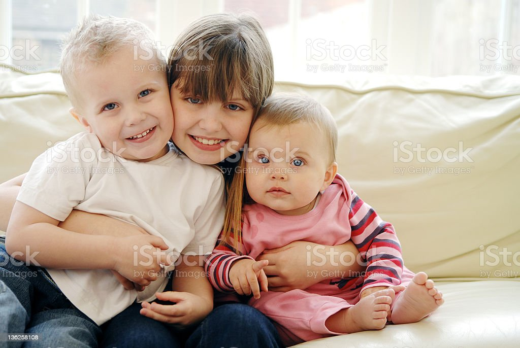 Three children portrait royalty-free stock photo