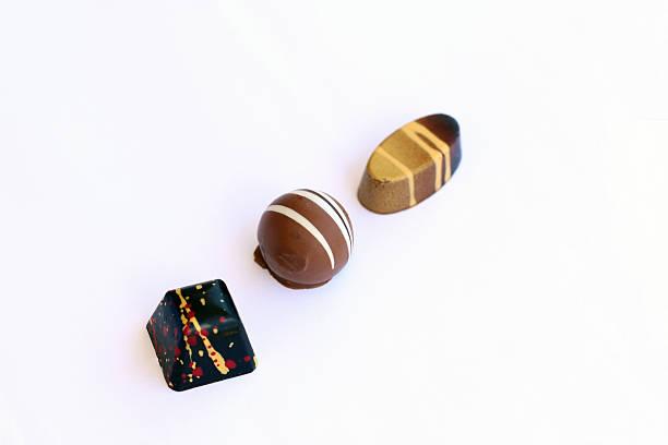 Drei Schokolade und bonbons – Foto