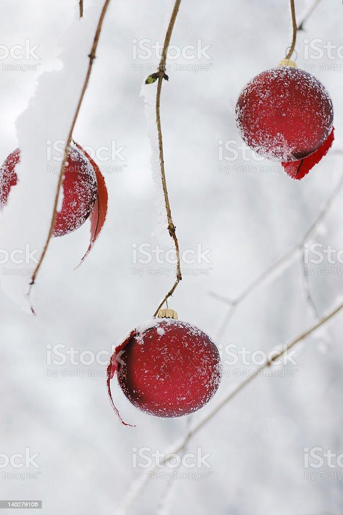 Three Christmas Balls royalty-free stock photo