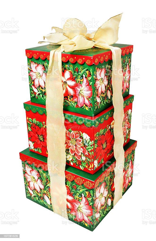Three Christmas Presents royalty-free stock photo