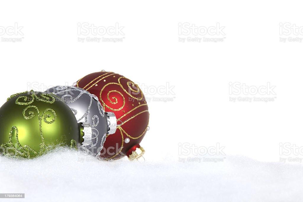 Three Christmas Tree Balls royalty-free stock photo