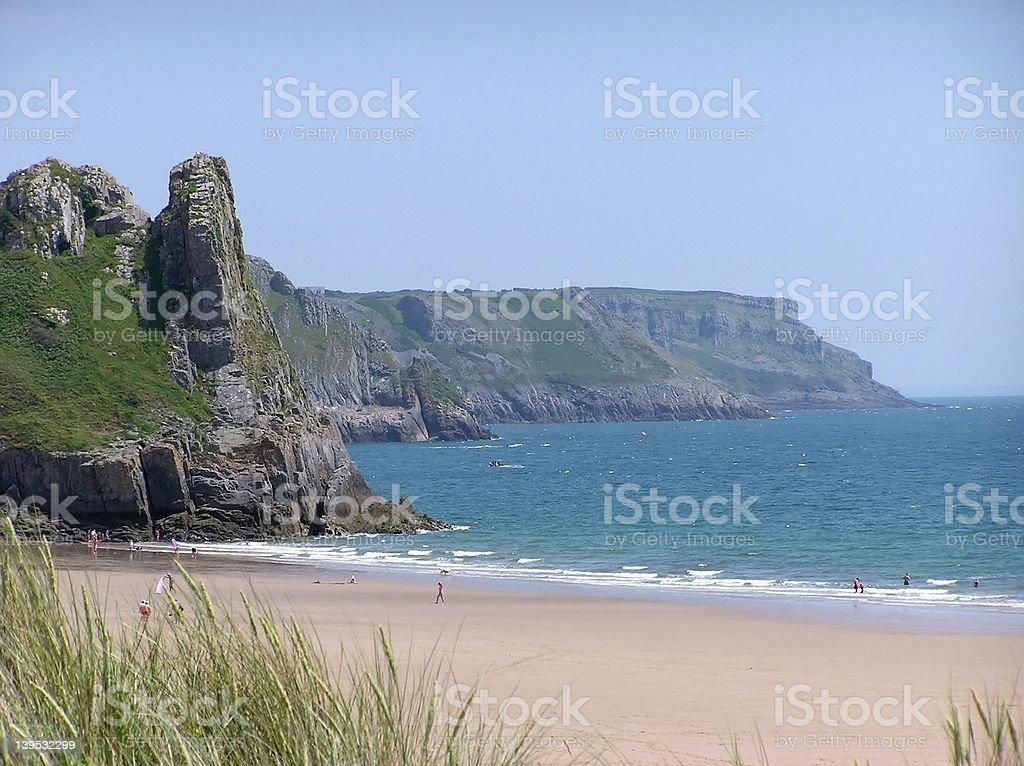 Three Cliffs Bay royalty-free stock photo