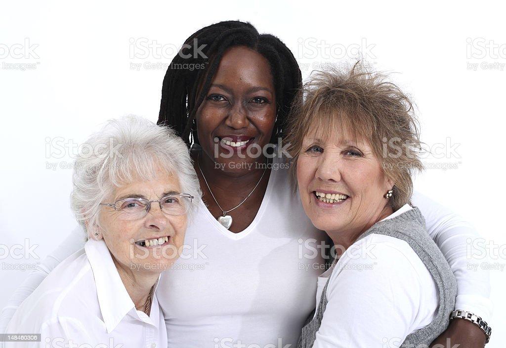 Three close women royalty-free stock photo