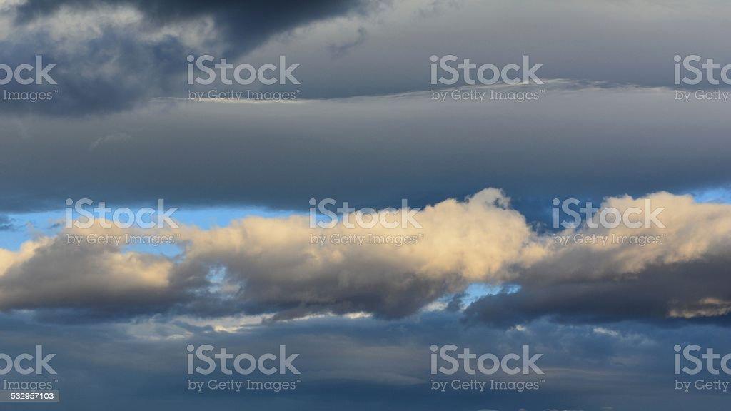 Three Clouds stock photo