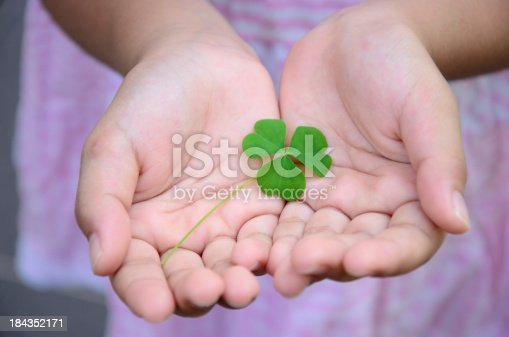 Three clover in the hand