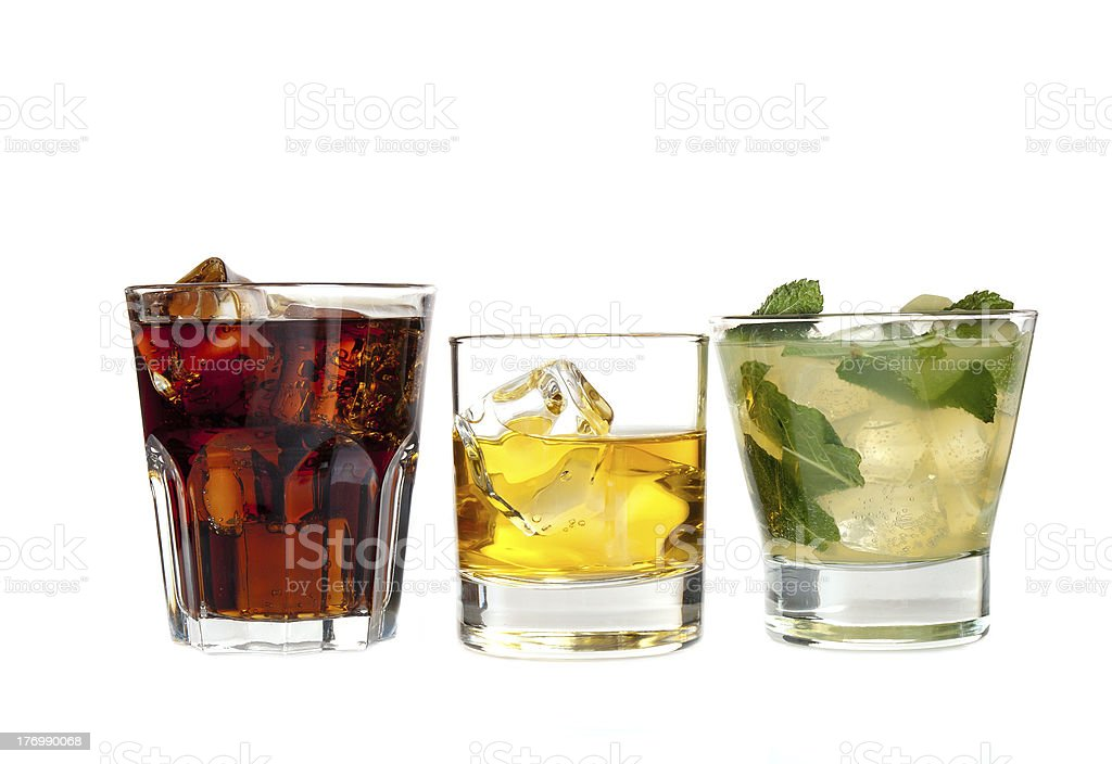Three cocktails royalty-free stock photo