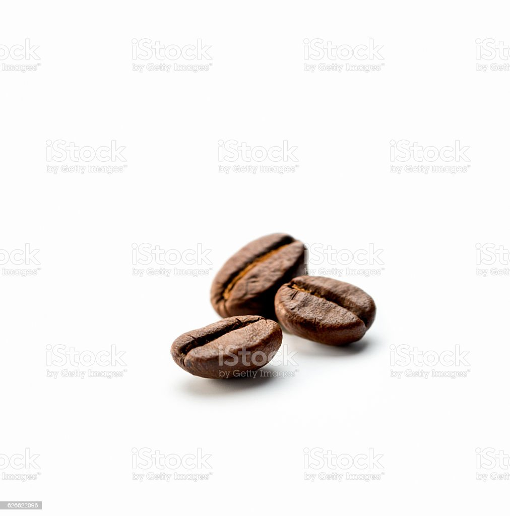 three Coffee Beans stock photo