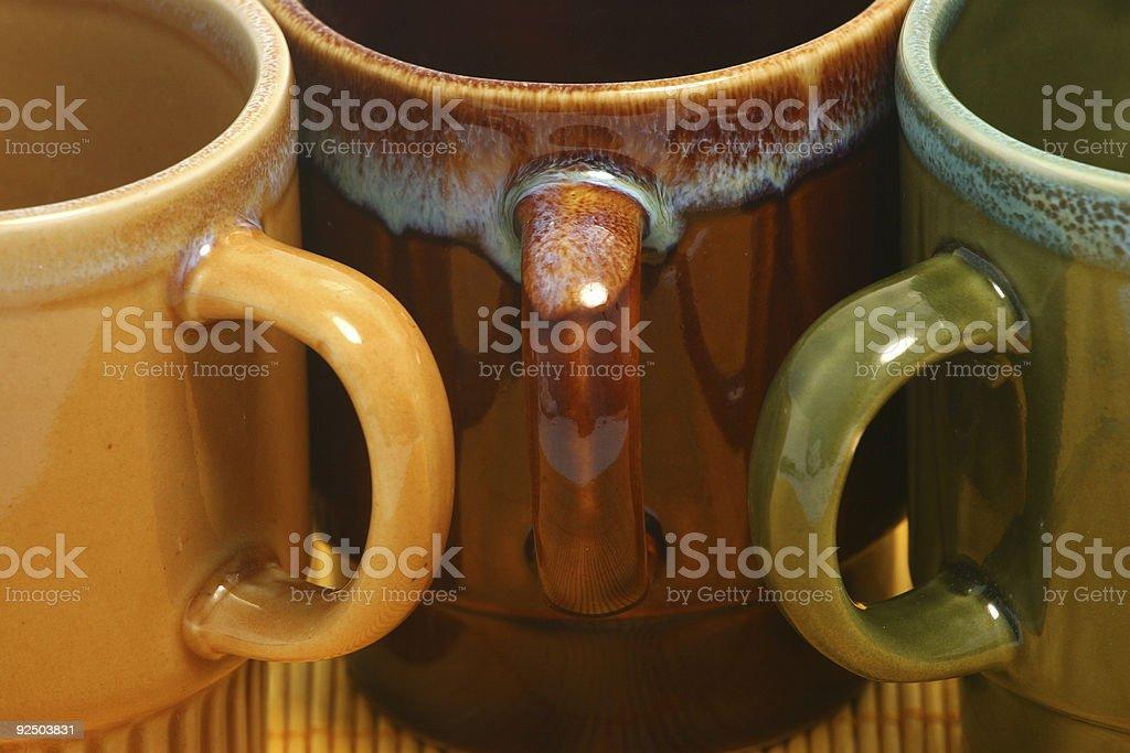 Three coffee cups 248 royalty-free stock photo