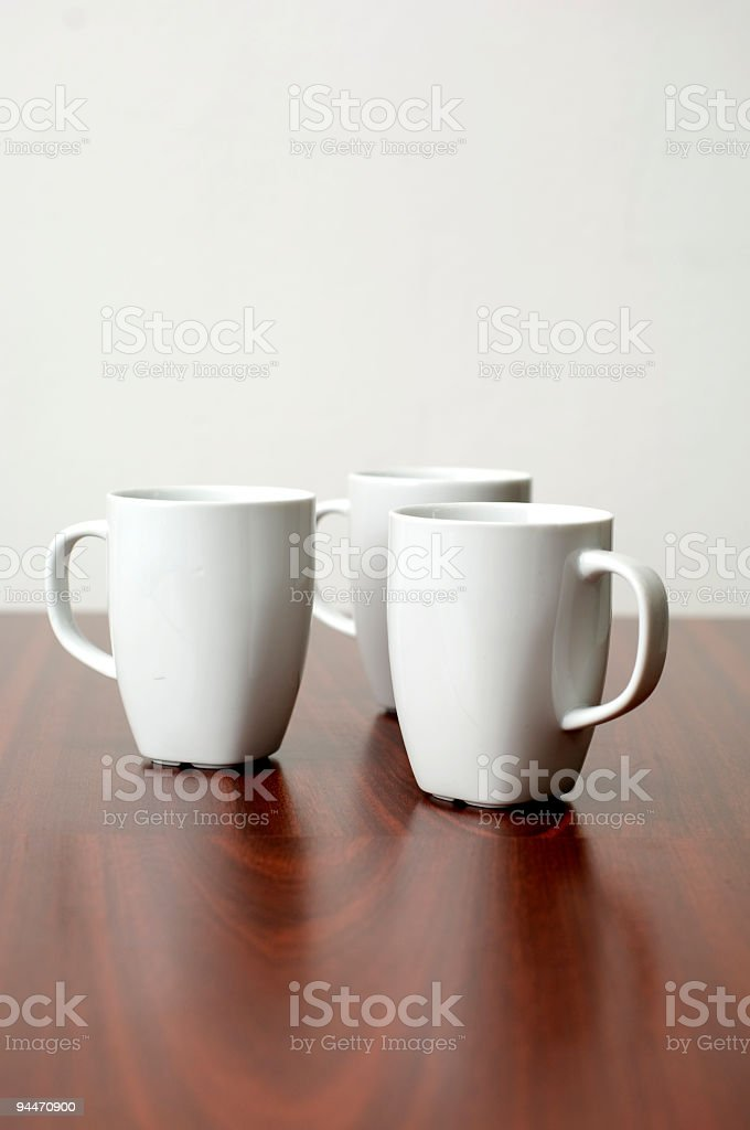 Three Coffee Cups royalty-free stock photo