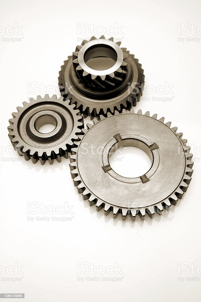Three cogwheels royalty-free stock photo